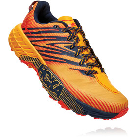 Hoka One One Speedgoat 4 Running Shoes Herre gold fusion/black iris